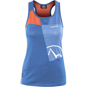 La Sportiva W's Earn Tank Marine Blue/Lily Orange